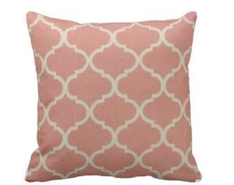 Spring Pillow Cover -Coral Pillow - Coral Decorative Pillow - Lattice Pillow - Damask Throw Pillow - Pink Bishop Throw Pillow - Peach Pillow