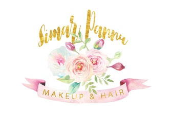 Custom designed Logo / Watercolor Logo / Handmade / Custom made / Calligraphy / Handwrittten / Unique / Makeup Artist Logo / Business Logo