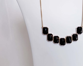 Black Jeweled Necklace