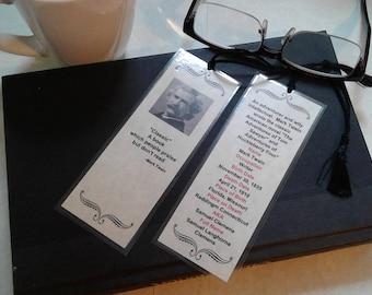 Mark Twain bookmark. Handmade