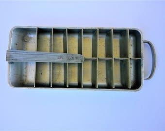 Vintage Frigidaire Metal Ice Tray - Heavy Duty