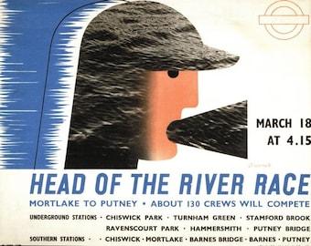 Vintage 1939 University Boat Race Poster A3/A2/A1 Print