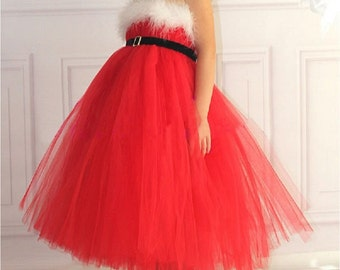 Red Tulle Sleveless dress
