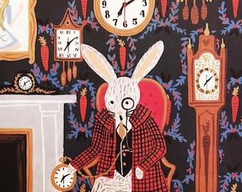 The White Rabbit- Alice In Wonderland framed print