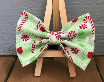 NEW! Candy Cane and Gum Drop Dog Bow Tie