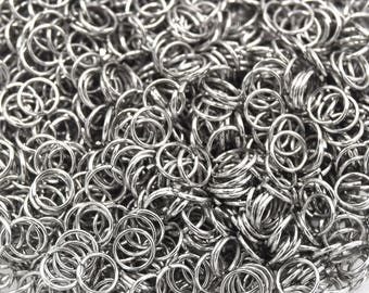 Rings Silver stainless steel 3.5 mm batch of 100, 200, 300, 500 units