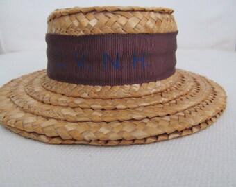 salesmans sample straw boater hat
