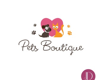 Logo design - Premade pet logo design - Pets boutique logo - Pet logo design