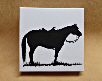 HORSE Gift Box Original Hand Painted Art Ranch Horse Western Rodeo Cowboy Trish McMurry Art