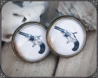Western/Country Cabochon Earstuds GunGun