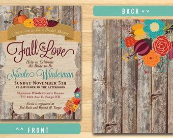 FALLing in Love Bridal Shower Invitation