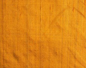 Mustard Dupion Raw Silk