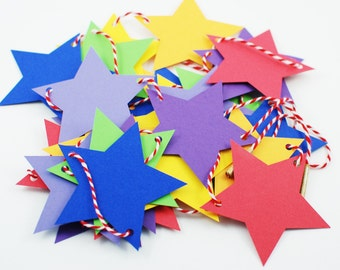 Rainbow Baby Decor - Rainbow Garland - Nursery Star Garland - Nursery Decor - Nursery Wall Art - Paper Star Garland - Party Decorations