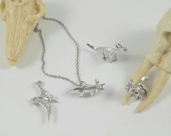 Dinosaur Necklace , T Rex Necklace, Triceratops Necklace, Pterodactyl Necklace, Brontosaurus Necklace, Apatosaurus Necklace