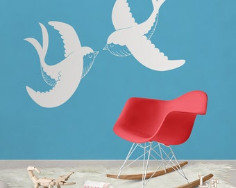 Stickers wall swallow