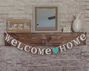 Welcome Home Banner- Welcome Banner- Welcome Home Garland- Welcome Home Party Banner- Deployment Banner