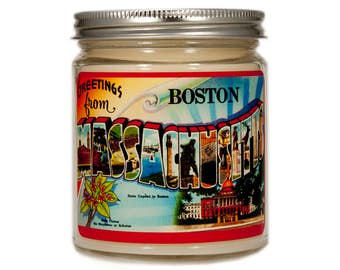 Boston Massachusetts Gift, Boston Massachusetts Candle, Boston Gift, Boston Candle, Scented Candle, Container Candle, Soy Candle
