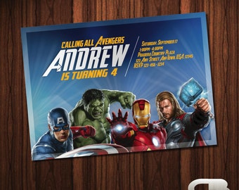 Avengers Invitation - Avengers Invite - Avengers Birthday Invitation - Avengers Birthday Party - Avengers Digital File Download