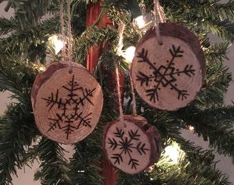 Snow Flake Christmas Ornament Set