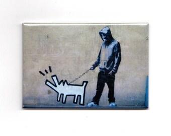 Banksy - Walking dog Magnet
