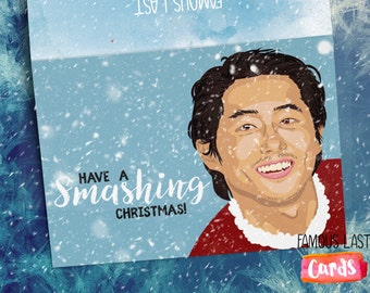 The Walking Dead Christmas Card - Glenn - Have a smashing Christmas!