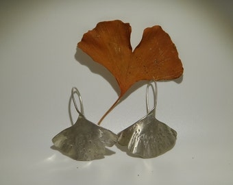 Sterling Silver Ginko Earrings