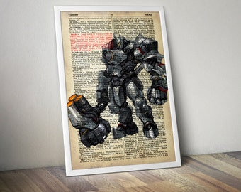 Reinhardt  Overwatch Poster Typography Dictionary Text Art Word Art 5x7 8x10 11x14 12x16