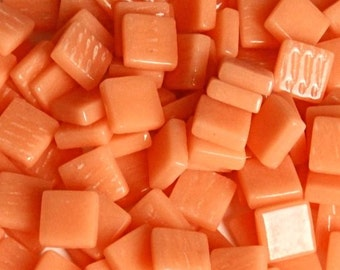12mm Mosaic Craft Tiles - Peach Gloss - 50g