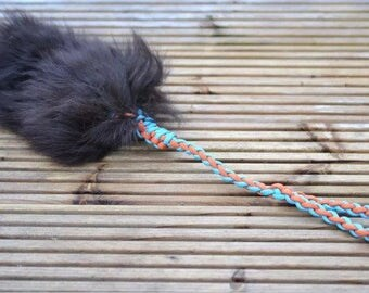 Sheepskin Tuggie Toy with long Paracord 550 handle