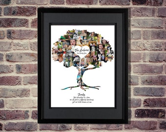 Family Tree Photo Collage - Family Tree Collage - Family Tree Wall Art - Family Tree Print - Family Tree Art - Family Photo Collage