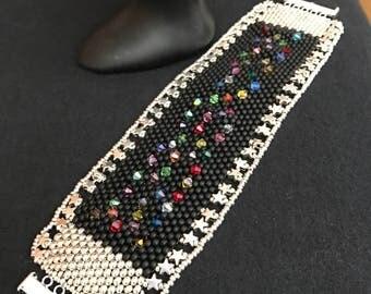 NO 231 Hand Beaded Cuff Bracelet