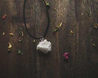 Beautiful crystal cluster choker | Quartz choker | Handmade choker | New mexico quartz