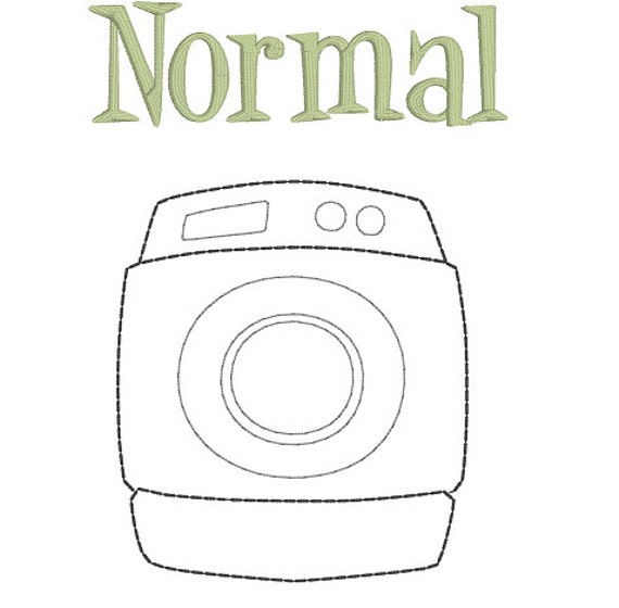 Normal Is Just A Setting On The Dryer Funny Machine Embroidery Design Pillow Laundry Room Original Digital File Instant Download 7 x 12 Hoop