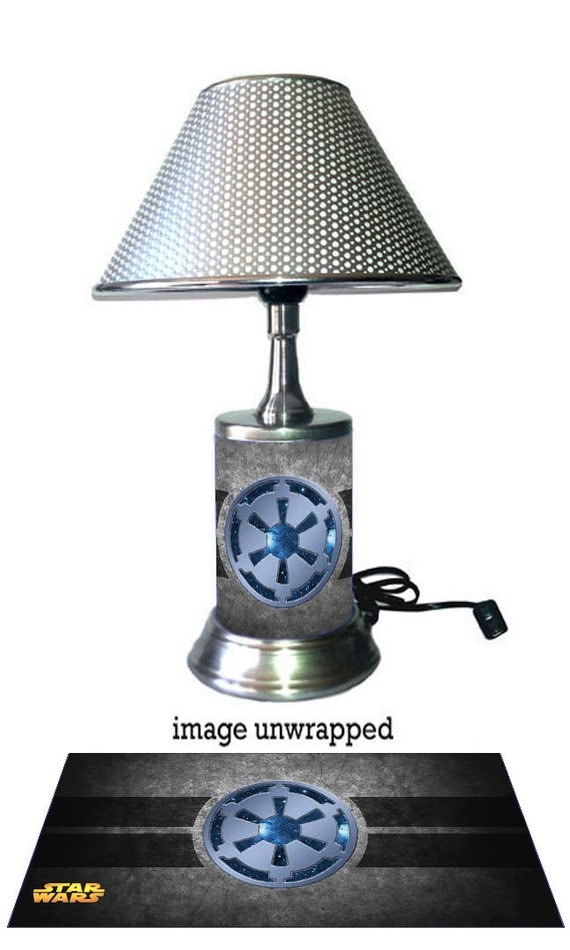 Star Wars Galactic Empire Lamp with chrome shade