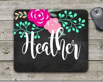 Mouse pad | Custom Mouse Pad | Monogram Mouse Pad | Mother's Day Gift | Office Gift | Employee Gift | Home Office | Office Decor