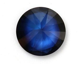 3.52ct 9mm Round Blue Sapphire Loose Gemstone DIY Design Making