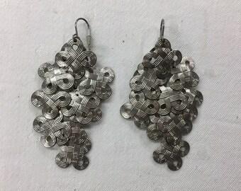 Modern metal dangling Earrings