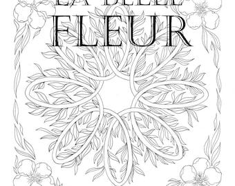 The complete colouring book La Belle Fleur