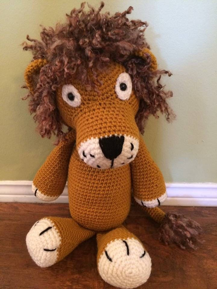 Super Cute Handmade Leo the Lion by BlanketBuddiBoutique
