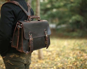 Messenger Bag, Laptop Messenger Bag, Leather Satchel, Womens Satchel, Brown Leather Satchel Bag, Leather Crossbody Bag, Mens Bag
