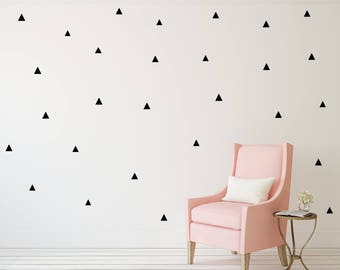 Triangle Wall Decal - Wall Sticker - Nursery Kids Wall Decal Pattern | PP116