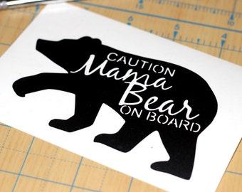 Mama Bear On Board Sticker | Baby On Board Decal