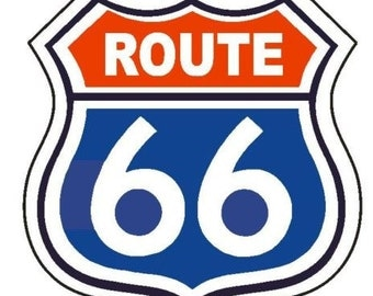 Route 66 Vinyl Decal Car Window Bumper Sticker Yeti Tumbler Laptop Cell Phone 2 Available 00041
