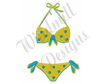Polka Dot Bikini - Machine Embroidery Design