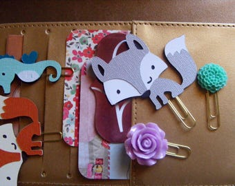 Wolf Paper Clip | Cute Wolf | Planner Clip | Happy Planner | Wolf Scrapbook | Set Mixed