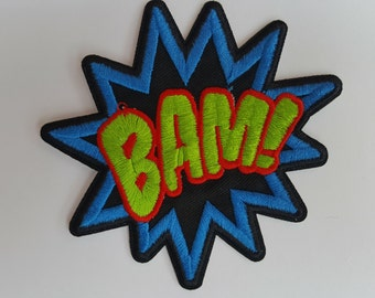 BAM comic book style Iron on Patch