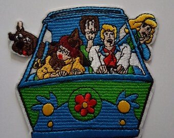 Scooby Doo the mystery machine Brand new iron on Sew on Patch Embroidered transfer