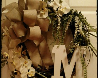 Monogram Wreath. Perfect for gifting with a personal touch.
