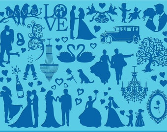 Silhouette matt - Wedding and romance