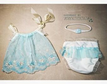 Newborn baby set , newpbornprop, photoprops,  romper, and headband